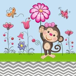 Fototapeta dla dzieci małpka 236a