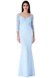 Kornkowa  błękitna sukienka dla matki panny młodej, dla druhen , goddiva 1551