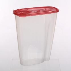 Pojemnik na przyprawy i artykuły sypkie: mąkę, płatki lub makaron tontarelli nuvola dispenser 2 l koralowy