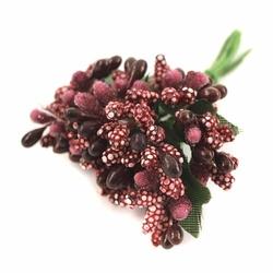 Pręciki do kwiatów ryżyk 12 szt. - bordowy ciemny - bordowy ciemny