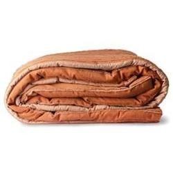 Hkliving :: narzuta bawełniana w paski pomarańczowa 240x260 cm