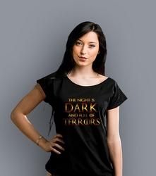 The night is dark t-shirt damski czarny xxl