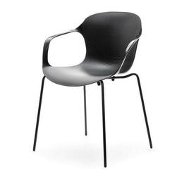 Krzesło z podłokietnikami nanto czarne nowoczesne