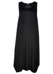 Sukienka midi z dżerseju bonprix czarny