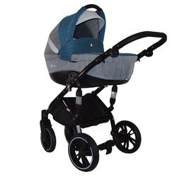 Wózek wielofunkcyjny tutek tirso szaro-turkusowy z obracanym siedziskiem + gondola + fotelik + torba + puzzle