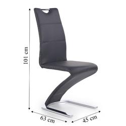 Krzesło do jadalni sansa ekoskóra czarne