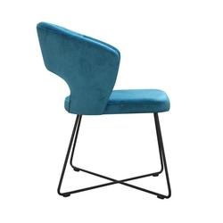 Nowoczesne krzesło tapicerowane klemens x na metalowych nogach
