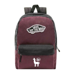 Plecak szkolny vans realm prune purple black - vn0a3ui6tqr - custom lama - lama