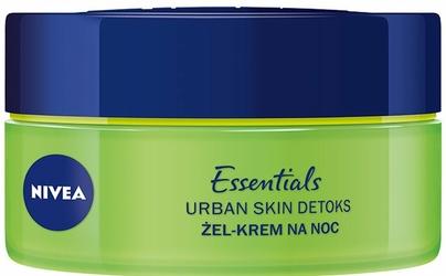 Nivea, Essentials Urban Skin Detoks, Krem-żel na noc Booster Nawilżenia, 50ml