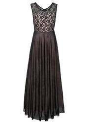 Sukienka z koronką bonprix czarno-różowy