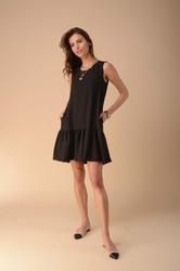 Letnia sukienka z falbanką czarna