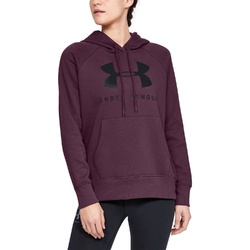 Bluza damska under armour rival fleece sportstyle graphic hoodie - fioletowy