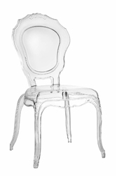 Krzesło transparentne queen - nie