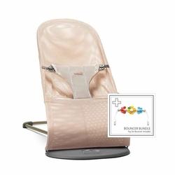 Babybjorn - leżaczek bliss mesh - perłowy różowy + zabawka - perłowy róż