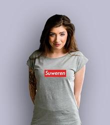 Suweren t-shirt damski jasny melanż xxl