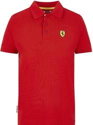 Koszulka polo dziecięca scuderia ferrari f1 czerwona - czerwony