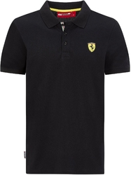 Koszulka polo scuderia ferrari f1 classic czarna - czarny