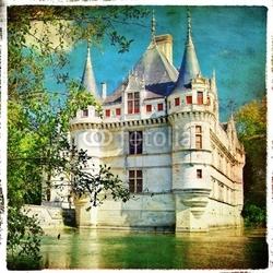 Tapeta ścienna zamek na wodzie - obraz w stylu retro