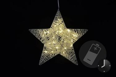 Gwiazda rattanowa 30 led ciepła biel, 35 cm