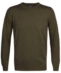 Elegancki zielony sweter prufuomo z delikatnej wełny merynosów m