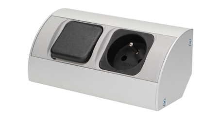 Gniazdo meblowe z wyłącznikiem, 1x230V OR-AE-1302 ORNO - Szybka dostawa lub możliwość odbioru w 39 miastach