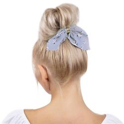 Gumka do włosów apaszka frotka scrunchies błękitna