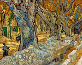 Vincent van gogh, the large plane trees - plakat wymiar do wyboru: 50x40 cm