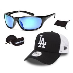 Zestaw okulary przeciwsłoneczne arctica + czapka z daszkiem new era la trucker - 32171
