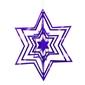 Ozdoba choinkowa 3d gwiazda niebieska