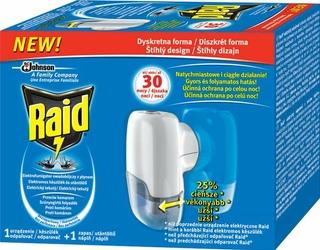 Raid, urządzenie elektryczne z płynem przeciw komarom, czas działania 30 nocy
