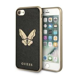 GUESS Etui hardcase GUHCI8ESPBBK iPhone 78 czarny Butterfly Saffiano