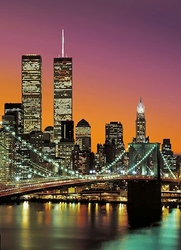 Nowy Jork, Manhattan kolor - fototapeta