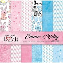 Uroczy papier 30,5x30,5 cm Emma and Billy - zestaw