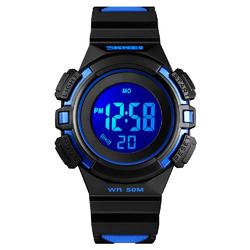 Zegarek DZIECIĘCY SKMEI 1485 LED STOPER blue - BLUE