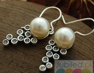 CELEBRA - srebrne kolczyki z perłą i kryształami