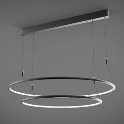 Altavola Design :: Lampa Ledowe Okręgi No. 2 CL czarna 80 cm in 3k