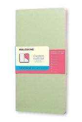 Notes Moleskine Chapters Journal L miętowy w kropki