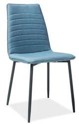 Krzesło tapicerowane Molly niebieski