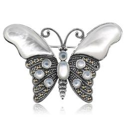 broszka MOTYL srebro 925 macica perłowa