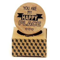 Drewniany stempel Pop Stamp- Your are my happy pla - 008