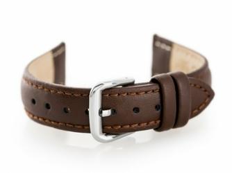 Pasek skórzany do zegarka W30 - w pudełku - brązowy - 16mm