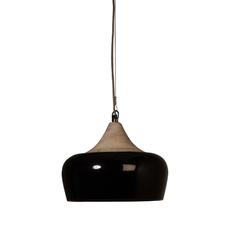 Dutchbone :: Lampa wisząca COCO GLOSSY Czarna - czarny