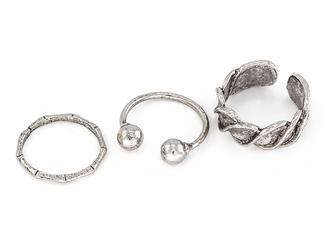 Pierścionki zestaw silver