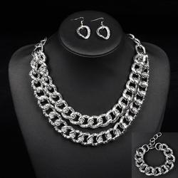 Komplet biżuterii chain silver - SILVER