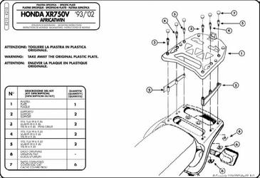 Kappa K210 Stelaż centralny Honda Africa Twin 750 9602