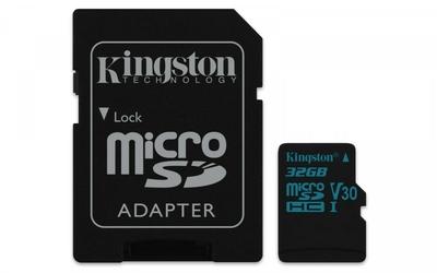 Kingston microSD  32GB Canvas Go 9045MBs UHS-I V30 + adapter