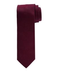 Elegancki bordowy krawat jedwabny Profuomo Originale