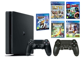 Konsola Sony PS4 1TB Slim + 2 Pady + 5 Gier Kids
