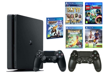 Konsola Sony PS4 1TB Slim + 2 Pady + 5 Gier Kids