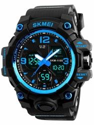 Męski zegarek Skmei AD1155B - elektroniczno-wskazówkowy zs019b